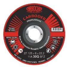 Discuri abrazive profesionale pentru polizare cu zirconiu 125x4x22.2